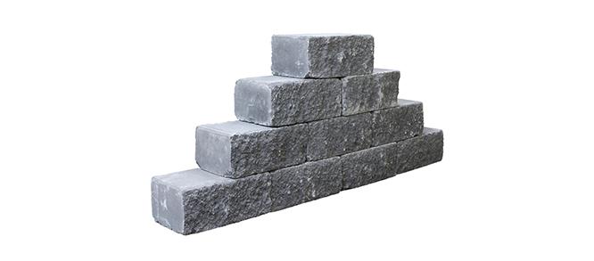 Mauersteine anthrazit